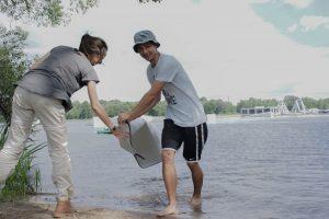 Neries Parke Litdea 2018-08-15 Ežero tvarkymas